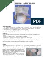 Paper Eye Model 1