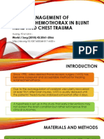 Early Management of Retained Hemothorax in Blunt Head