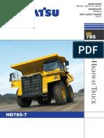 Komatsu Hd785-7 Rigid Dump Trucks