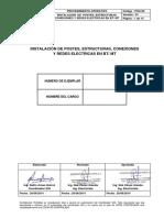 POS-09 Instalacion de Postes, Estructuras, Conexiones y Redes Electricas en BT MT Version 01