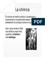 Chimica - Lezione 1