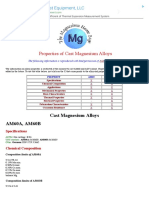 Properties of Magnesium Alloys