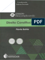 Sinopse - Direito Constitucional (Flavia Bahia)
