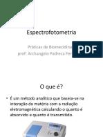 Espectrofotometria por Archangelo Padreca Fernandes