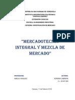 Monografia Mercadotecnia Integral y Mezcla de Mercado