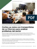 Cortizo se reúne con transportistas de La Chorrera para analizar problemas del sector - Metro Libre