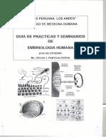 GUÍA DE PRACTICAS DE EMBRIOLOGIA