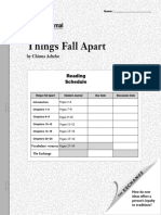 Student Journal Things Fall Apart