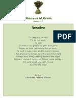 Resolve - Sheaves of Grain - 55