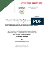 Formes Fiscales Orientees Vers La Modernisation Des Outils