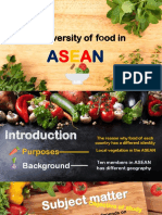 The Diversity of Food in ASEAN