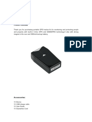 Manual gps track gt001 | General Packet Radio Service