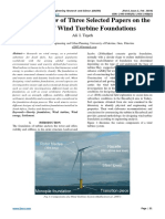 Critical Review of Three Selected Papers on the Design of Wind Turbine Foundations