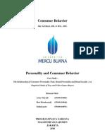 Kelompok 5 Personality and Consumer Behavior