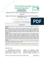Ameliorative Effect of Nebivolol in Parkinsonsdisease