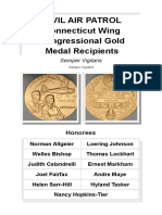 Civil Air Patrol Connecticut Wing Congressional Gold Medal Recipients Pamphlet (March 2015)