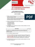 Examen 6 - Planeamiento Estrategico
