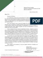 20190208 Ilévia DCastelain Courrier EELV