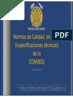 Normas de Calidad en EPPs Syso Comibol