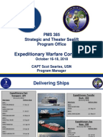 PMS 385 - Strategic and Theater Sealift Program Office, CAPT Scot Searles, USN, Program Manager - SearlesPEOShips