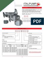 Filtro para gas de Italpump - Datos técnicos