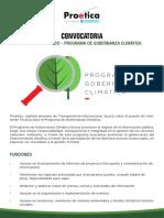 Convocatoria - Gobernanza Climática