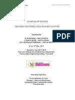 Internship Report Seshasayee