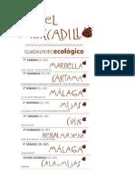 Mercadillos Ecológicos en Málaga