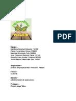 Avance Proyecto Final Productos Palacio