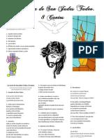 La Carta de San Judas Tadeo. 8 Cantos. Partitura