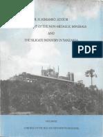 Development of the Non-Metalic Minerals & the Silicate Industry in Tanzania Volume II