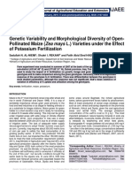 Genetic Variability and Morphological Diversity of Open-Pollinated Maize (Zea mays L.) Varieties under the Effect of Potassium Fertilization