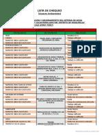 Ejemplo de una Lista de Chequeo de Impacto Ambiental (obra