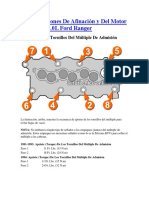 Especificaciones de Afinación y Del Motor 1991