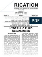 34110216 Lubrication Hydraulic Fluid Cleanliness