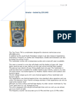 Top Tronic T48 Multimeter Tested by ZS1JHG