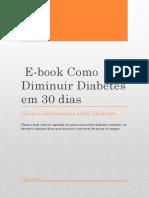 E Book Como Diminuir Diabetes Em 30 Diasdiabetes