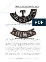buckinghamshire battalion shoulder titles