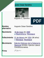 Biografia de Sandino