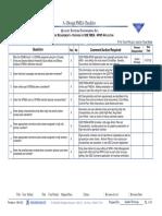 SFMEA Check List