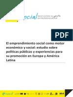 El Emprendimiento Social Como Motor