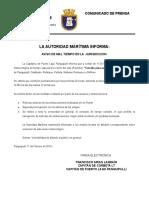 Comunicado de Prensa Cierre de Puerto 11 de Febrero 2019