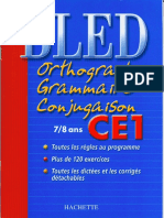 Cahier Exercices Bled Ce1 Zecol Grammaire Conjugaisons Orthographe