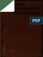 Elements of Volkerpsychologie