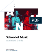 ANU Music 2018 Auditions Guide