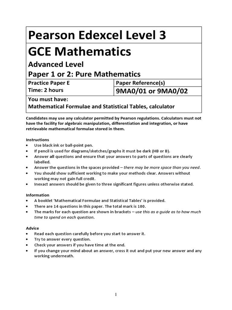 Gce a level math