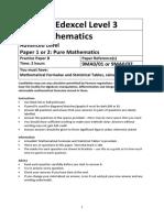 A level Mathematics Practice Paper B – Pure Mathematics.docx