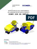 Manual de Instrucciones y Mantenimiento 036 Simplex12