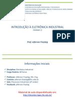 Aulas de Eletronica Industrial  - Aula 1 - Prof. Jeferson Fraytag
