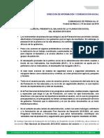 Comunicado 01 Plan Nacional de Desarrollo-2013 2018